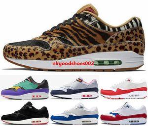 scarpe Schuhe 1 1s Luft Atmos Lauf Größe US 5 12 46 Männer Sneakers 87 Parra Trainer max Frauen mens 87s Jugend Jungen 2020 Auf Schwarz Lila x
