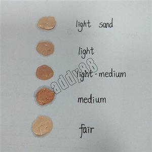 ماكياج الوجه المخفي 5 الألوان شكل شريط كونتور المخفي معرض فاتح متوسط متوسط ضوء الرمل 10ML السائل مؤسسة DHL شحن