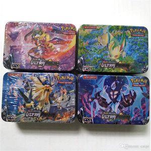 42PCS / صندوق صندوق معدني الوحش بطاقات لعبة SUNMOON بطاقات للأطفال للأطفال بطاقة المعركة لعبة جمع أفضل هدايا