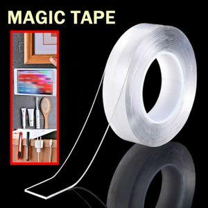 2019 Hot récent réutilisable magique Nano double face Ruban adhésif transparent Ruban Traceless amovible