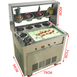 CE approved fried ice cream machine   ice cream maker 220V 1600W fried ice cream roll   all kinds of