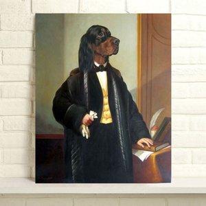 Handbemalte Thierry Poncelet Ölgemälde Hauptdekor-Wand-Kunst auf Leinwand Chien Poncelet 24x30inch Unframed