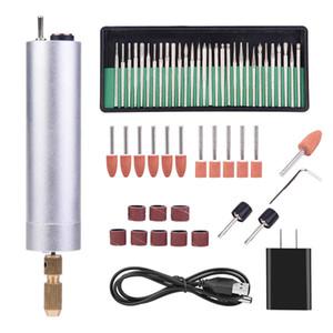 AC 110-240V USB Rechargable Mini Electric Rotary Drill Grinder Полировщик Гравировка Pen Tool полировальный станок