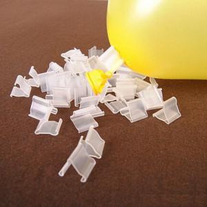 "4000Pcs lot Transparent ""V""Shape Sealing Clip Balloons Plastic Clips Kids Birthday Party Wedding Festival Decoration Accessories"