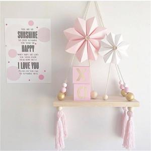 북유럽 스타일의 나무 비즈는 모바일 장난감을 벽으로 장식 Wall-amounted Decor 거실 침실 아기 소녀 소년 룸 장식 어린이 장난감