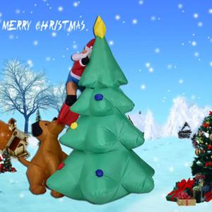 Hediyeler Parti Şenlikli Olay Dev Şişme Değişimi LED Işıklı Noel Snowman Yukarı Fantezi Oyuncak Noel Baba Noel Blows