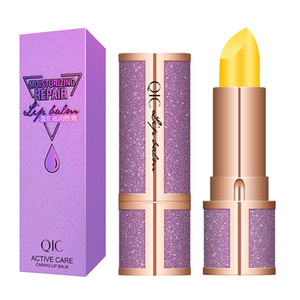 QIC Starry Lip Balm Color Temperature Change Lipstick Moisturizing Natural Plant Winter Nourishing Protective Lip Makeup Care L4601