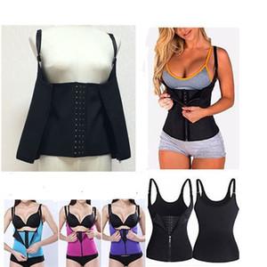 Mulheres Shapers tops shaper quente colete de roupas íntimas de neoprene de treinamento de barriga bodycon shaper cinto cintura cincher zíper trespassado 582