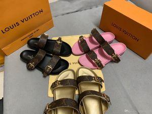 Designer Luxus-Strand-Pantoffeln Sommer flache Pantoffel Damen Designer Dia Hausschuhe Strandzeit