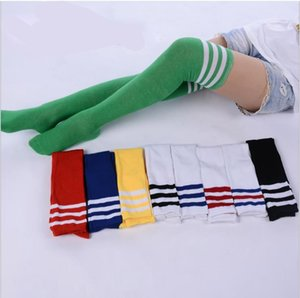 Dance çorap spor futbol çorapları çizgili diz yüksek çorap