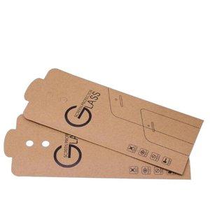 Universal-Packpapier-Kleinpaket Verpackung Box für Handy Ausgeglichenes Glas-Schirm-Schutz-Beutel-Beutel 180 * 88mm