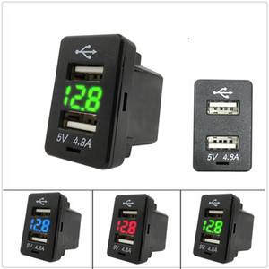 12V-24V duplos Portas USB Car Charger Tomada Power Adapter Com LED voltímetro Medidor 4.8A Charging Adapter Para Honda Avancier XRV Civic CRV Cidade