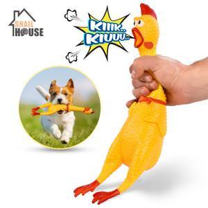 Tavuk Evcil Köpek Oyuncakları Squeeze Squeaky Ses Komik Oyuncak Güvenliği Kauçuk İçin Köpekler Molar Oyuncak Chew Screaming Sıcak Satış