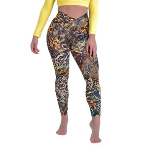 Autumn winter new Women's Leopard Printed Tight Sports Fitness Running sexy bodycon Soft Leisure Comfortable Yoga Pants
