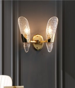 Modern Luxury Crystal Copper Wall Lamp Villa Restaurant Home Living Room Aisle Decor Wall Sconce WA210