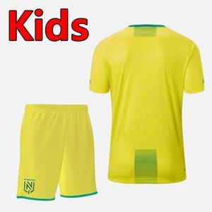 19 20 FC Nantes fútbol de los cabritos fija juegos de piezas de los niños 2019 2020 FC Nantes camisa chicos de fútbol uniformes FC Nantes equipos de fútbol juvenil XXS-XXL