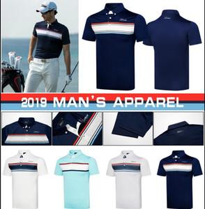 2019Golf Sportswear dos homens de Manga Curta T-Shirt4colors Roupas S-XXL Frete Grátis