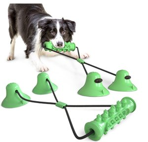 New Arrival Pet Supplies Double Sucker Pull Rope Dog Toy Molars Bite Stick Dog Toy Petmolar