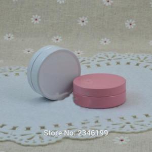 Caja pequeña de aluminio Rosa Color Blanco 10ML del metal del estaño Crema facial del cuidado de tarro Crema cosmética Pot Tarro Muestra 100 PC / porción