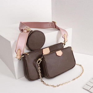 Women's handbags bag 3 pieces set of mens wallet flower crossbody bag ladies purses