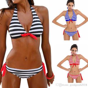 Women's Swimming Suit Sexy Bikini Swimsuit Women Bikini Set Striped Swimsuit Swimwear Beachwear Bathing Suit ST539