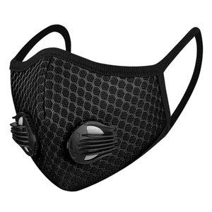 Malha mascarar máscaras de respiração válvula carvão activado poeira e da poluição atmosférica 3D respirável malha filtro mascarar exterior poeira máscara desporto