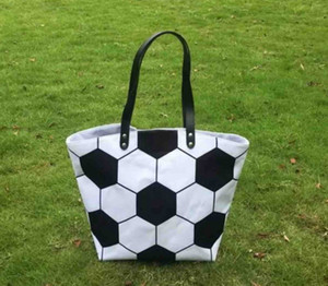 20 Cotton Handbags Totes Stitching Soccer Sports Baseball Canvas Bags Mom Girl White Fashion Volleyball New Designs G Jacjx