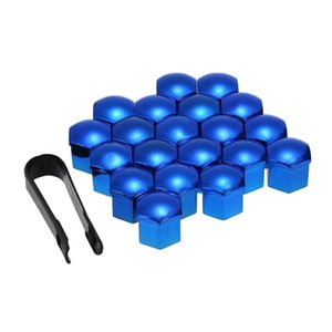 20 Sets New 17mm Wheel Nut Cover Caps Screw Protector & Removal Tool