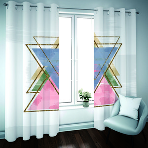 Luxury Blackout Curtains Photo Printing Curtains For Living Room Bedroom geometric Photo Children Room Window Curtain Drapes