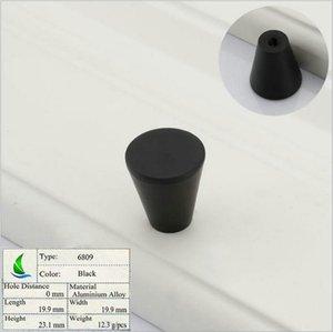 6809 Black-S завод прямой простой европейский шкаф пользовательские полосы ручка простой современный ящик шкаф дверная ручка мебель hardwar