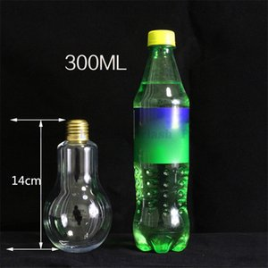 Summer Glow LED Bulb Water Bottle Cute Girl Fashion Succo di latte Lampadine Water Glass a prova di perdite Cup con coperchio GGA388