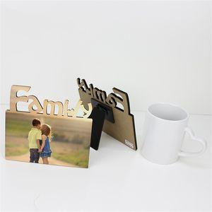 DIY Photo Frame Сублимация Пробелы Family Photoes Печать Фоторамки Настраиваемый Креативный 7 1BD UU