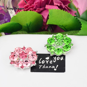 New Arrival Pink Rhinestone Embellishment Used On Invitation Or Shoe Decoration Flat Back 25MM 20PCS Lot Silver Color KD550