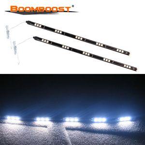 زوج واحد 12V 1.2W 30CM سوبر الأبيض مرنة ضوء سيارة 15SMD LED تشغيل أضواء النهار لينة شرائط الشريط مصباح الشريط