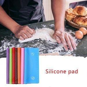 29 * 26cm silicone cuisson pad argile Fondant outils de cuisson au four de pâtisserie Pâte de roulement Tapis de cuisson roulement Fondant pâtisserie Tapis de cuisson Outils KKA7748