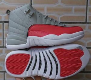 12 gs cinzento homens rosa mulheres sapatos de basquete 510815-060 nova liberação senhoras senhoras esportes sapatilhas com caixa