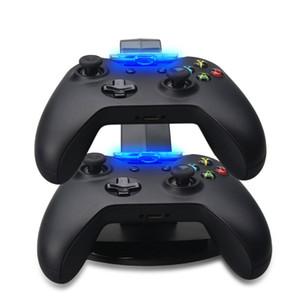 Carregamento duplo suporte USB Dock Station Carregador para Playstation DualShock 4 PS4 XBOX um controlador de Gamepad montar titular LED Light Avião