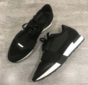 Новый конструктор Мужчина Женщина кожа Повседневная обувь Low Cut дышащая сетка тапки на открытом воздухе Кроссовки Runner обувь SneakerUS5-11.5 f1