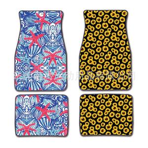 Evrensel Araba Paspaslar Leopar Baskı Ayak Halı Başına 2 adet Takım Elbise Anti Patinaj Çok Renkler 31dy F1