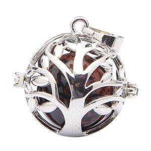 Oco Árvore da Vida Copper pérolas gaiola medalhão Pendant para Achados DIY colar pulseira Fazendo