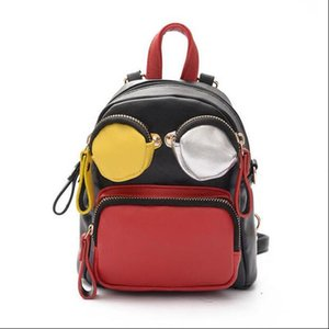 Дизайнер-бренд мода женщины мультфильм рюкзак подиум конфеты сумочка двойной ремень назад пакет сумки милые леди кошелек партии улыбка кошелек-XX02