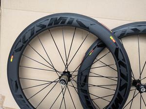 BOB armadura de tela cruzada Mavic cósmica 700C 60mm bicicleta de carretera profundidad ruedas de carbono de 25 mm de anchura de carbono remachador juego de ruedas con el envío libre A271 hub