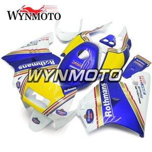 Honda NSR250R-SP Için tam Fairing Kiti NC21 P3 1990 1991 1992 1993 NSR250 NC21 90 91 92 93 ABS Plastik Motosiklet Kaporta Mavi Sarı Kapakları
