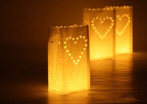 10 pcs / lot En Plein Air Bougie Lanterne Étoiles Titulaire De La Lumière Titulaire Du Papier Lanterne Bougie Sac pour Fournitures De Fête De Mariage Décoration