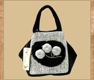 Designer-Handgemachte Peach Blossom Leinenfrauen Tote Mini Ethnische AttractiveCompanion Marken-Handtasche der Dame Art und Weise elegante Casual Girl Handtasche