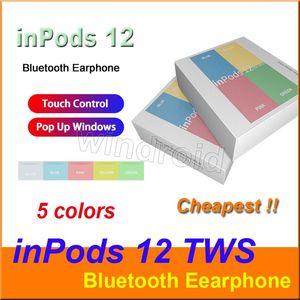 Macaron 5 inpods 12 inpods12 i12 Auricolari wireless TWS Bluetooth finestra pop-up auricolari touch control Auricolari per tutti gli smartphone