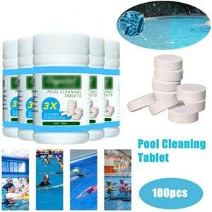 100PCS Clarificador de hidromasaje Spa tabletas de cloro Algaecide piscina del agua de limpieza no tóxicos comprimidos efervescentes al aire libre