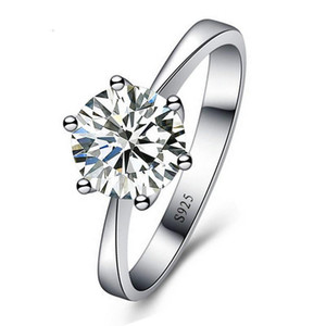 Rings Jewelry Cubic Zirconia Ring for Women Men 925 Sterling Silver Rings Accessories Romantic Wedding Ladies ring