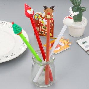 Bonito Series Natal dos desenhos animados Neutral 0,5 milímetros caneta preta Pen alunos criativos para presentes de Natal Stationery Office