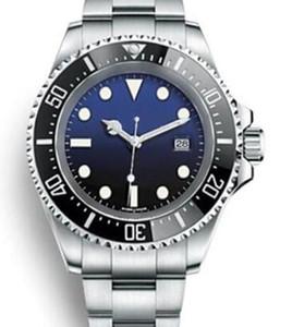 44MM Prata Automático pulseira de aço inoxidável Data Mens Relógios Azul Dial com mãos luminosas anel superior cerâmicos bracklet Dot Hour Markers